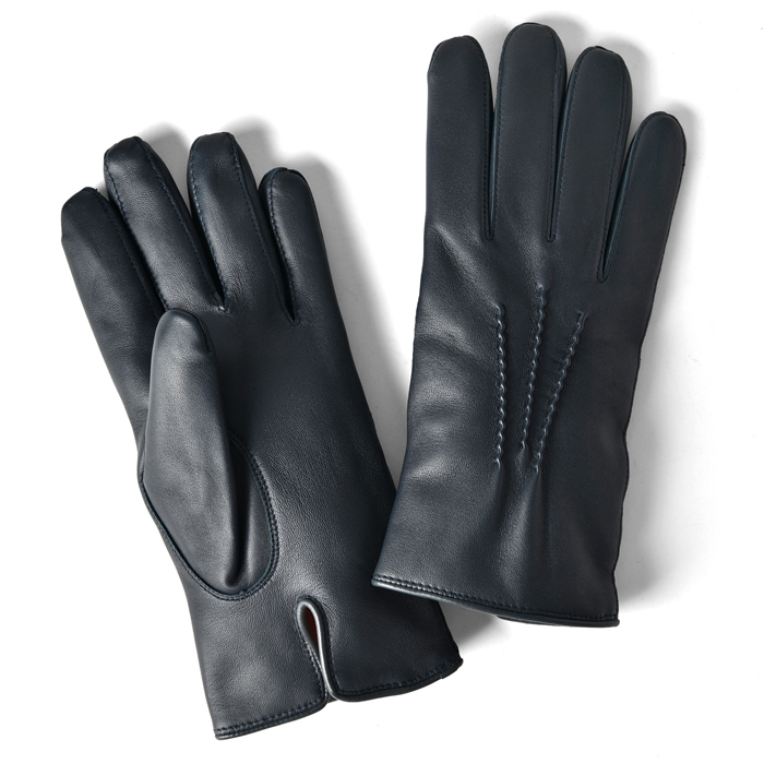 グローブス GLOVES 手袋 レザー ダークブルー CA060【本革 グローブ メンズ】【ネコポス対応】