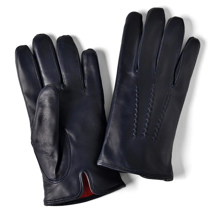 グローブス GLOVES 手袋 レザー ネイビー CA060 【本革 グローブ メンズ】