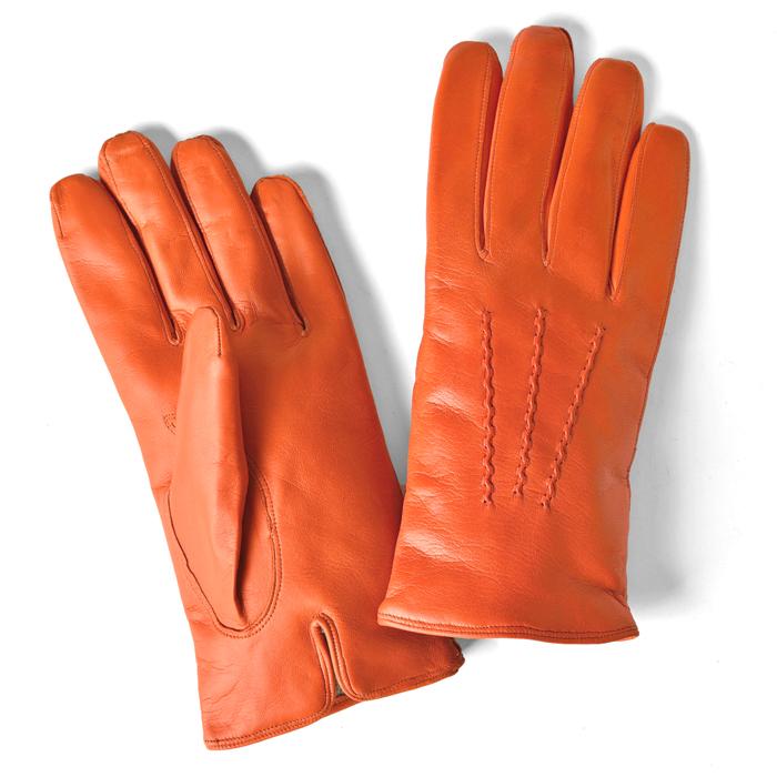グローブス GLOVES 手袋 レザー オレンジ CA060 【ネコポス対応】【本革 グローブ メンズ ブラウン】