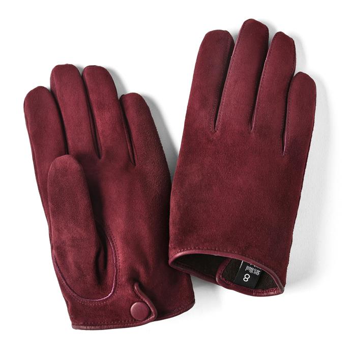 【クリアランス】グローブス GLOVES 手袋 スエード ボルドー【本革 グローブ メンズ】