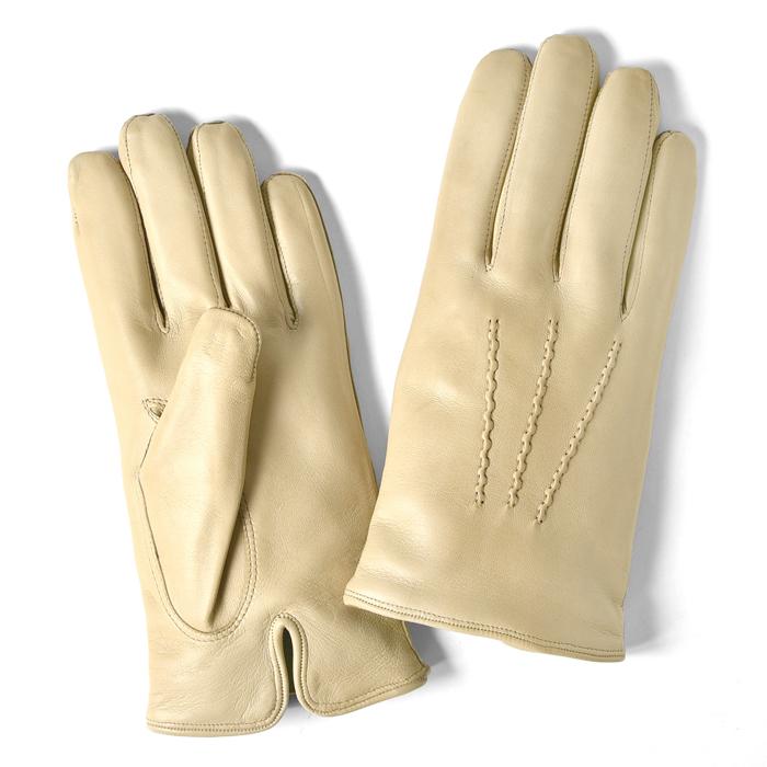 グローブス GLOVES 手袋 レザー アイボリー【ゆうパケット対応】【本革 グローブ メンズ】