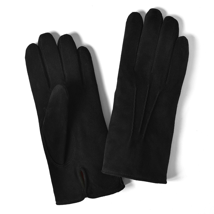 グローブス GLOVES 手袋 スエード ブラック CA060 【ネコポス対応】【本革 グローブ メンズ】