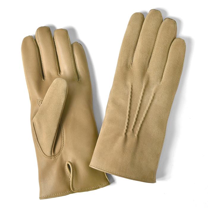 グローブス GLOVES 手袋 スエード&レザー切替 キャメル【ネコポス対応】【本革 グローブ メンズ】