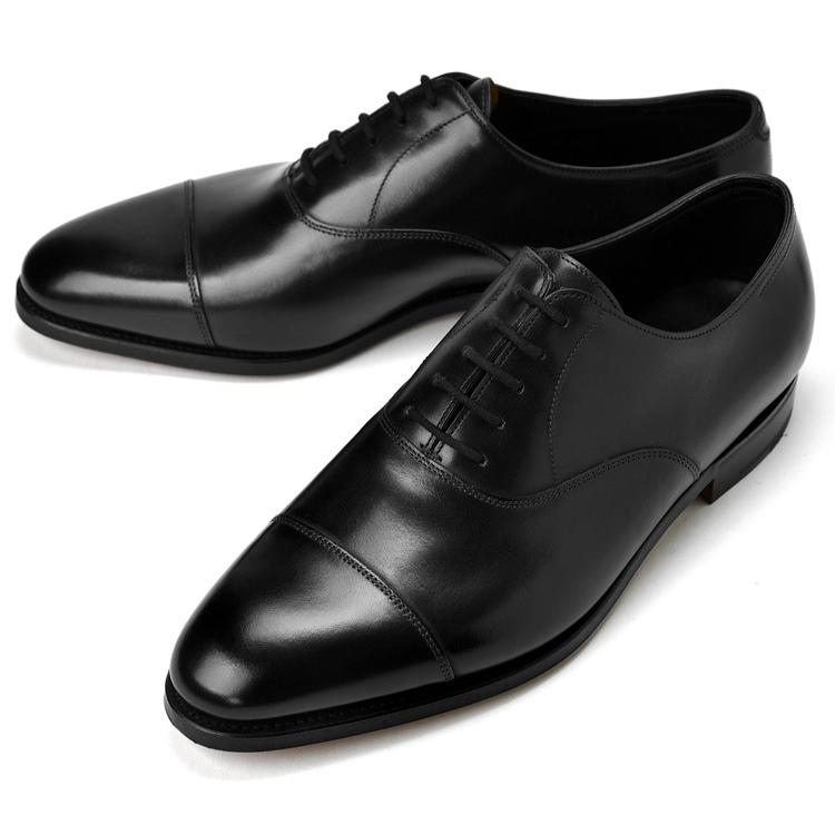 ジョンロブ JOHN LOBB CITY2 ストレートチップ ブラック シングルソール ワイズF-EE【ドレスシューズ 革靴 ビジネスシューズ メンズ インポート】