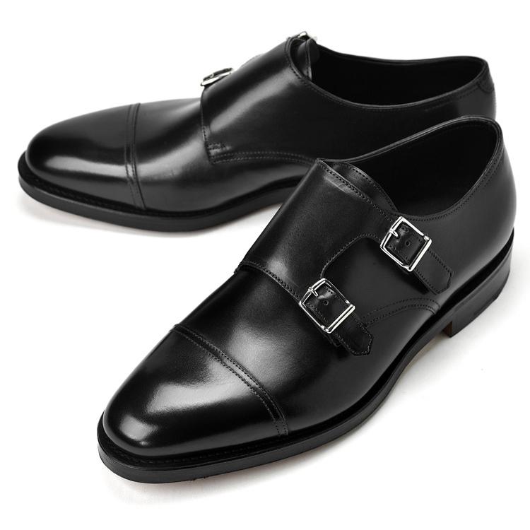 ジョンロブ JOHN LOBB WILLIAM ダブルモンクストラップ ブラック ダブルソール ワイズE【ドレスシューズ 革靴 ビジネスシューズ メンズ インポート】