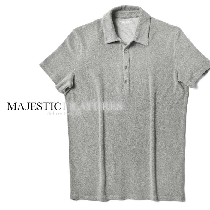 マジェスティック フィラチュール オム MAJESTIC FILATURES ポロシャツ 519-HPO017 グレー パイル メンズ 2019春夏
