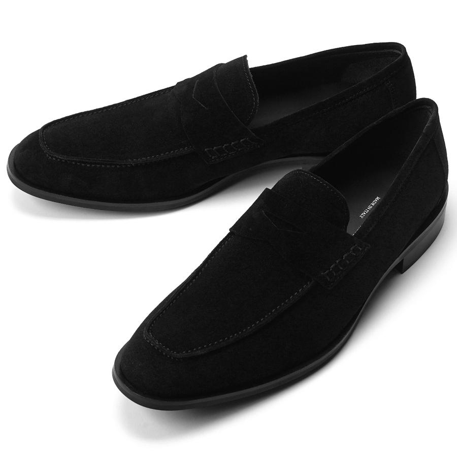 クリアランス イタリア トスカーナの履き心地の良いシューズファクトリーブランド マノヴィエ トスカーネ MANOVIE TOSCANE ローファー 革靴 賜物 限定タイムセール PENNY ドレスシューズ IAN スエード メンズ ビジネスシューズ ブラック