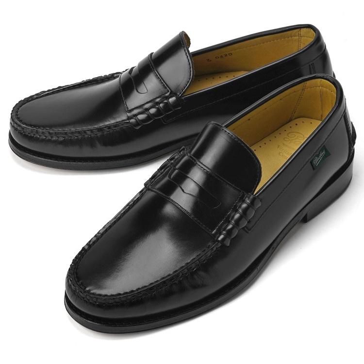 パラブーツ PARABOOT ブライトン BRIGHTON ブラック LIS-NOIR コインローファー 【ドレスシューズ 革靴 ビジネスシューズ メンズ インポート】