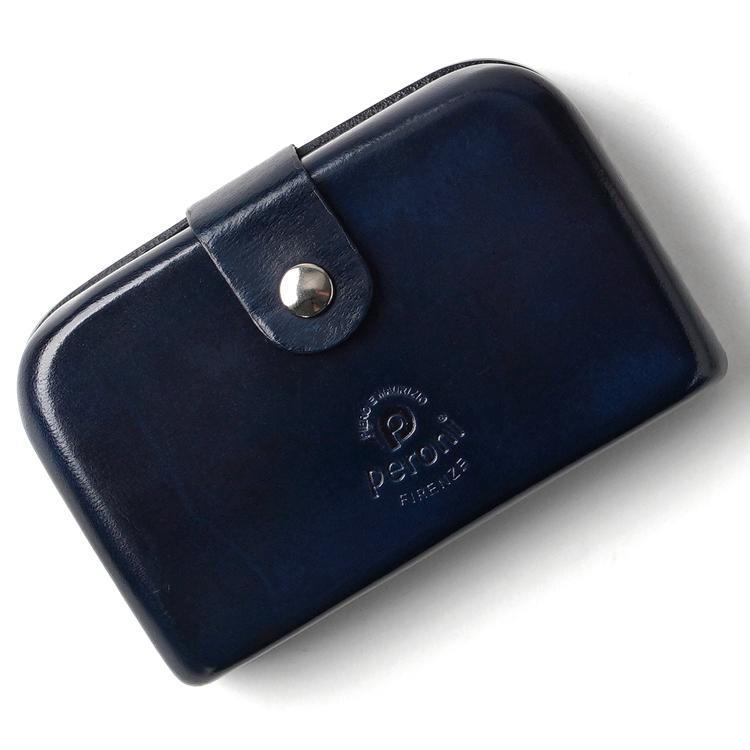 ペローニ PERONI FIRENZE ミニ財布 / 小財布 / スモールウォレット ネイビー 紺 コインケース / カードケース / 札入れ GIRAMONDO(ジラモンド)【小さい財布 コンパクト 本革 レザー メンズ レディース】