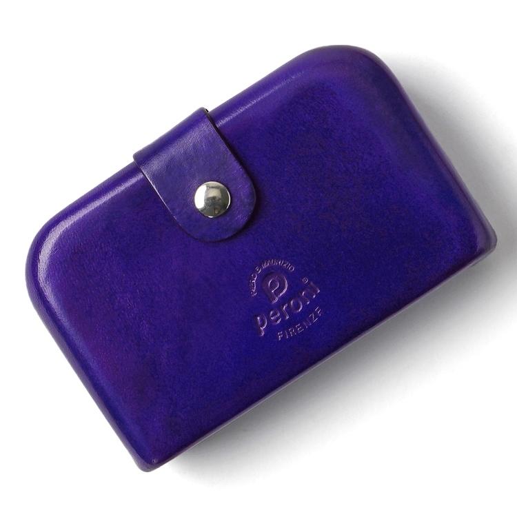 ペローニ PERONI FIRENZE ミニ財布 / 小財布 / スモールウォレット バイオレット コインケース / カードケース / 札入れ GIRAMONDO(ジラモンド)【小さい財布 コンパクト 本革 レザー メンズ レディース】