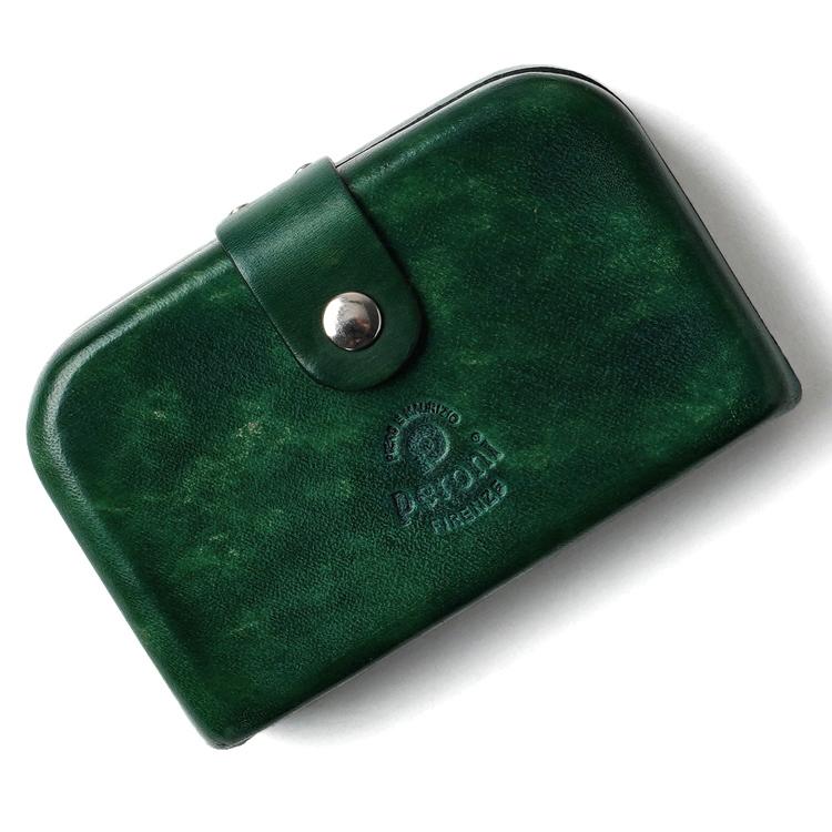 ペローニ PERONI FIRENZE ミニ財布 / ミニウォレット BRIAR GREEN グリーン 緑 コインケース / カードケース / 札入れ GIRAMONDO(ジラモンド)【小さい財布 コンパクト 本革 レザー プレゼント メンズ レディース】
