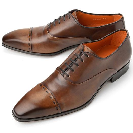 PERTINI ペルティニ ストレートチップ 22186 ブラウン【ドレスシューズ 革靴 ビジネスシューズ メンズ インポート】
