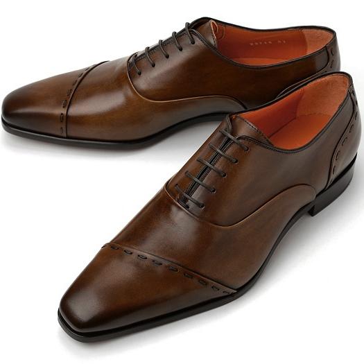 【クリアランス】PERTINI ペルティニ ストレートチップ スランテッド 23715 ブラウン2【ドレスシューズ 革靴 ビジネスシューズ メンズ インポート】
