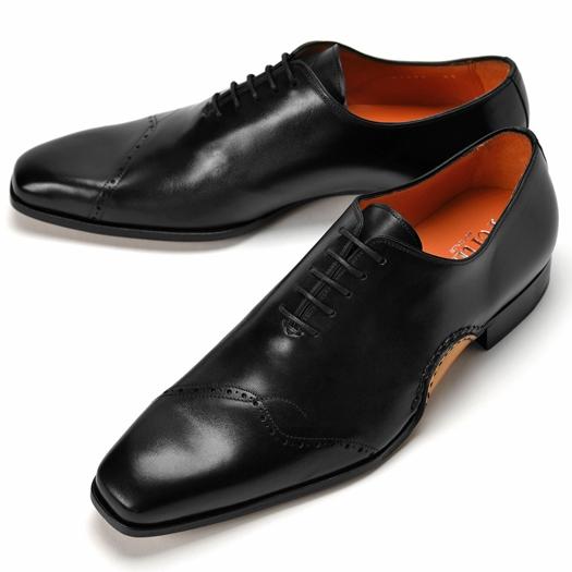 【アウトレット特価】PERTINI ペルティニ オパンケ ホールカット 23290 ブラック 【ドレスシューズ 革靴 ビジネスシューズ メンズ インポート】