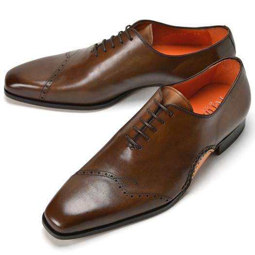 PERTINI ペルティニ オパンケ ホールカット 23290 ブラウン 【ドレスシューズ 革靴 ビジネスシューズ メンズ インポート】