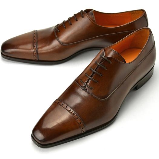 PERTINI ペルティニ ストレートチップ 24211 ブラウン【ドレスシューズ 革靴 ビジネスシューズ メンズ インポート】
