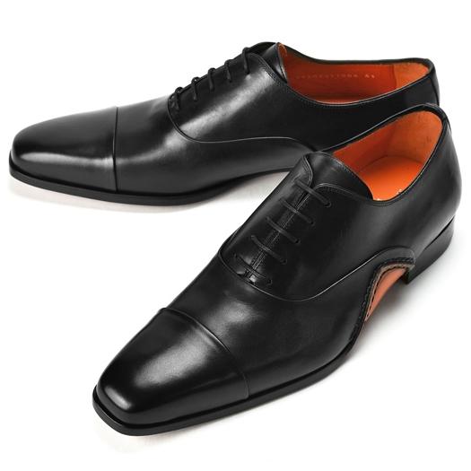【クリアランス】PERTINI ペルティニ オパンケ ストレートチップ 22770 ブラック 【ドレスシューズ 革靴 ビジネスシューズ メンズ インポート】