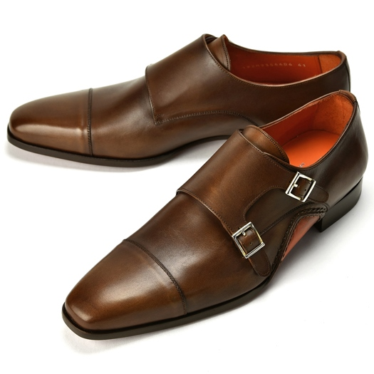 PERTINI ペルティニ オパンケ ダブルモンクストラップ 192M23564 ブラウン 【ドレスシューズ 革靴 ビジネス メンズ インポート】