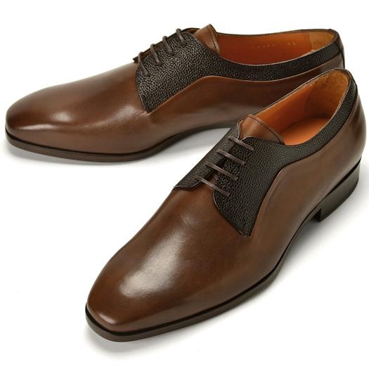 【クリアランス】PERTINI ペルティニ グレイン切替プレーントゥ 24580 ブラウン【ドレスシューズ 革靴 ビジネスシューズ メンズ インポート】