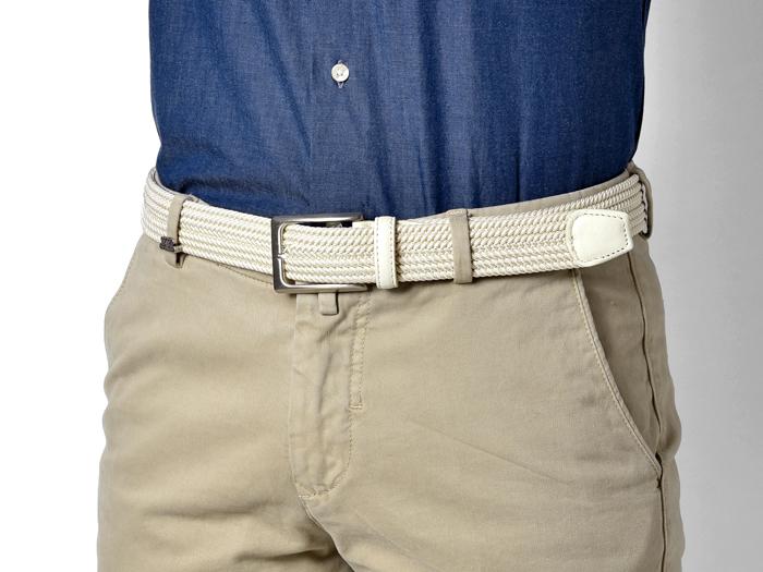 サドラーズ Saddler's ファインメッシュベルト 【3.2cm幅】 G01 オフホワイト 白【メンズ ベルト ビジネス イタリア】