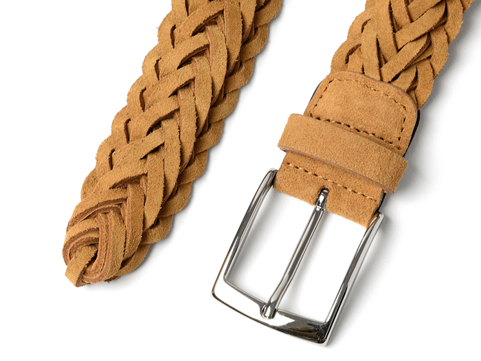 萨德勒的马具麂皮绒网带 3.5 厘米、 宽骆驼萨德勒