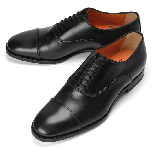 サントーニ SANTONI 13780 ストレートチップ ブラック【ドレスシューズ 革靴 ビジネス メンズ】