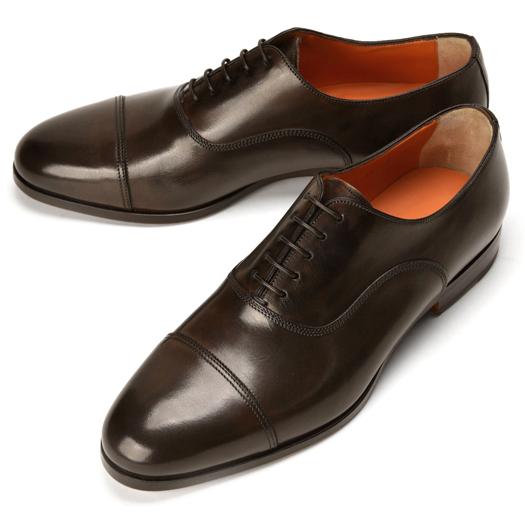 サントーニ SANTONI 15570 ストレートチップ ブラウン【ドレスシューズ 革靴 ビジネス メンズ】