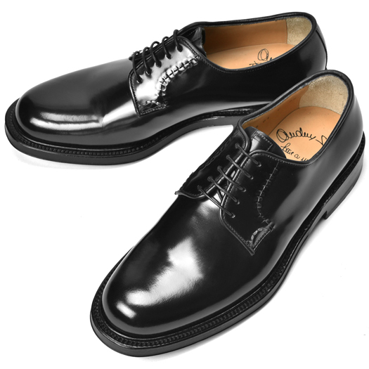 サントーニ SANTONI 6955 プレーントゥ ポリッシュレザー ブラック【ドレスシューズ 革靴 ビジネス メンズ】