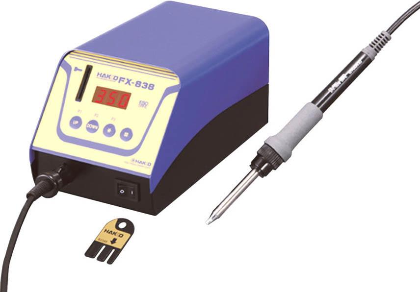 白光(HAKKO)デジタル小型温調式はんだこて ステーション型 100V 2極接地プラグ FX838-01