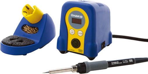 白光(HAKKO)デジタル小型温調式はんだこて 100V 2極接地プラグ FX888D ブルー/イエロー