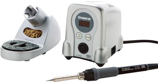 白光(HAKKO)デジタル小型温調式はんだこて 100V 2極接地プラグ FX888D シルバー