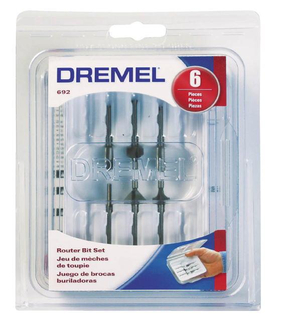 DREMEL(ドレメル) ルータービットセット 6点組 692