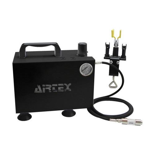 エアテックス ボックス型コンプレッサー エアーセット エアーブラシフリー ブラック