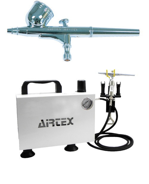 エアテックス ボックス型コンプレッサー エアーセット エアーブラ:MJ724 ホワイト