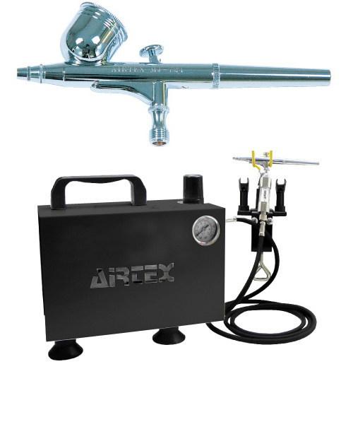 エアテックス ボックス型コンプレッサー エアーセット エアーブラ:MJ724 ブラック