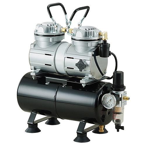 エアテックス タンク付きツインエアーコンプレッサー APC006D