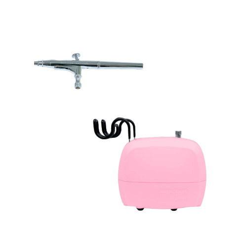 エアテックス ミニエアーコンプレッサー minimoネイルセット ピンク