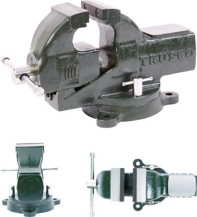 TRUSCO(トラスコ)強力型アプライトバイス(丸胴シャフト)回転台付きタイプ 口幅154mm×口開146mm