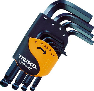 TRUSCO トラスコ お得なキャンペーンを実施中 ボールポイント六角棒レンチ ショートタイプ 9本組セット いつでも送料無料