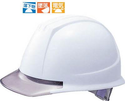 TRUSCO(トラスコ)透明バイザータイプ PC製ヘルメット ホワイト/グレー