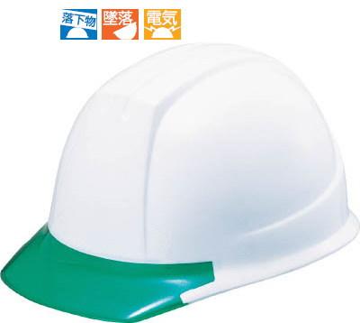 タニザワ シールド付タイプ PC製ヘルメット シールド面付 ホワイト