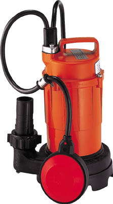 寺田ポンプ製作所 小型汚水用水中ポンプ 自動運転形 単相100V 50Hz 吐出量:80、全揚程:5m、口径:32mm