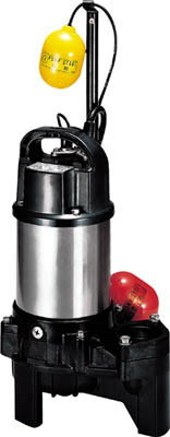 鶴見製作所 汚物用水中ハイスピンポンプ バンクスシリーズPU型 自動運転形 三相200V 50Hz 吐出量:150、全揚程:6.5m、口径:50mm
