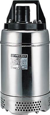鶴見製作所 耐食用水中ハイスピンポンプ ステンレス製SQ型 非自動運転形 電源コード6m 三相200V 60Hz 吐出量:140、全揚程:12.0m、口径:50mm
