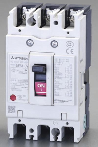 三菱 漏電遮断機(ブレーカー)AC100-240V/60A/3極30
