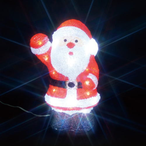 LEDクリスタルモチーフ サンタクロース(中)A
