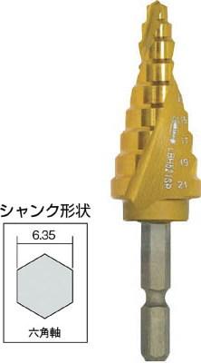 LOBSTER(ロブテックス)スパイラルステージドリル チタンコーティング 5~21mm 9段