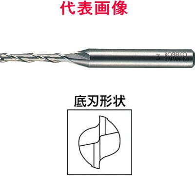 三菱マテリアル 超硬エンドミル 2枚刃:ロングタイプ 4.5×25×60mm シャンク径:6mm