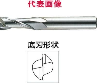三菱マテリアル 超硬エンドミル 2枚刃:ミディアムタイプ 7.5×16.0×60mm シャンク径:8mm