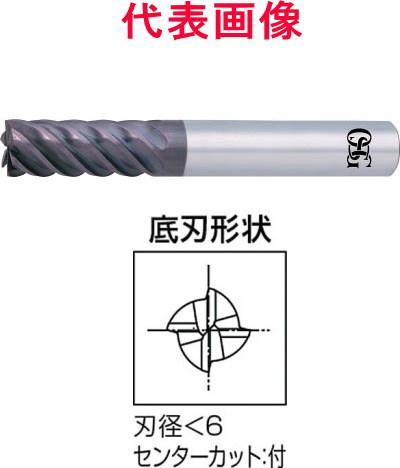 OSG WXSスーパーコートエンドミル 4枚刃:刃長:ショートタイプ 3.0×8.0×60mm シャンク径:6mm